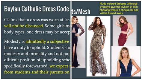schools prom dress code pre approval of gowns spark this 21 page prom dress code manual is everything that s