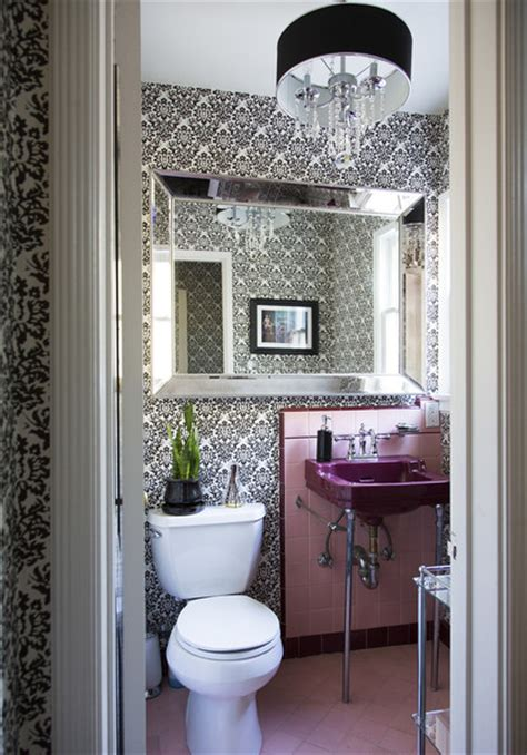 pink and black bathroom ideas pink tile photos design ideas remodel and decor lonny
