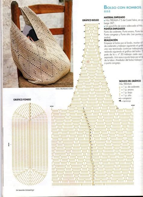 crochet pattern bag diagram crochet bag with diagram crafts crochet bags pinterest