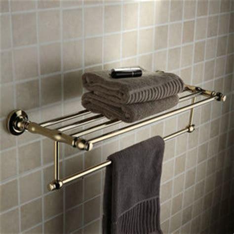 Bathroom Wall Shelf With Towel Bar by Antique Brass Ti Pvd Wall Mounted Bathroom Shelf With