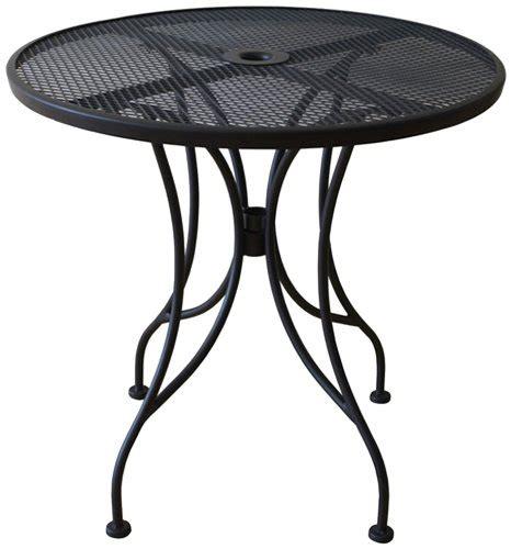 Oak Street Manufacturing Od24r Round Black Mesh Top Black Patio Table