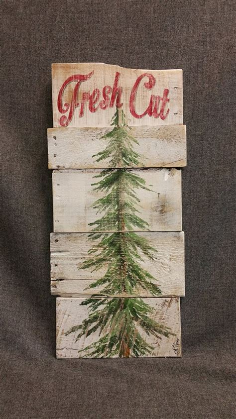 christmas tree fresh cut christmas sign fresh cut pine