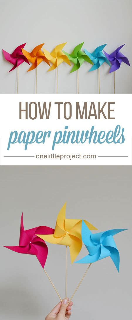 How To Make A Pinwheel With Paper - how to make a pinwheel beautiful make paper and 4th