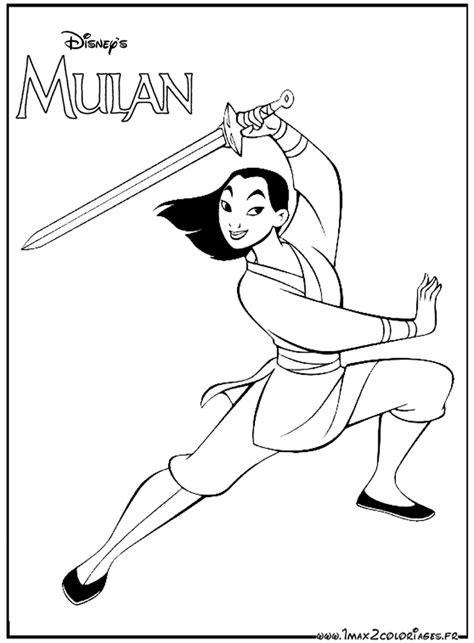 20 dessins de coloriage Princesse Mulan à imprimer