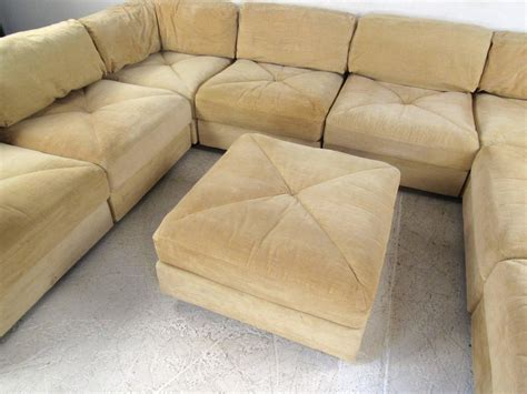 Sectional With Large Ottoman by Large Selig Sectional Sofa With Ottoman Mid Century