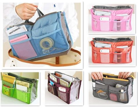 Korean Duals Bag Purse Organizer Bag In Bags handbag purse dual organizer insert mp3 phone cosmetic storage bag in bag for eight