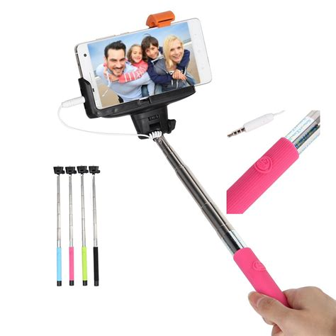 Tongsis Cable Take Pole free shipping wired cable take pole extendable selfie
