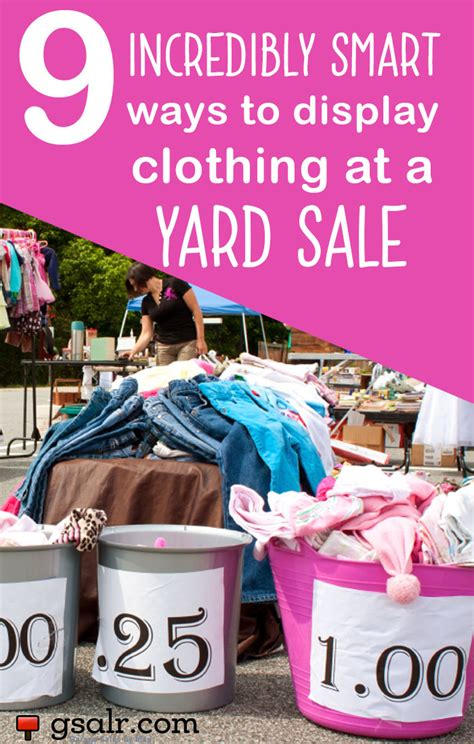 What Is A Garage Sale by 9 Incredibly Smart Ways To Display Clothing At A Yard Sale