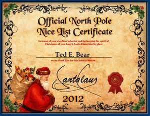 santa claus certificate template list certificate 2015 for rowan