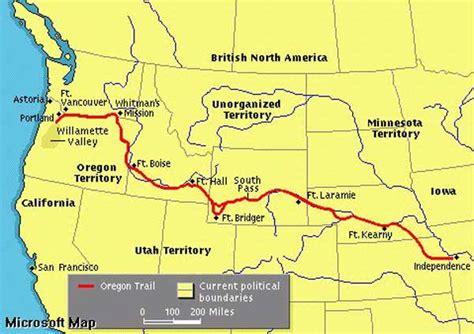 map of oregon trail 187 the oregon trail reflections on great literature