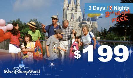 walt disney world orlando vacation package with 3rd night