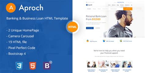 bootstrap templates for banking aproach banking business loan bootstrap 4 html