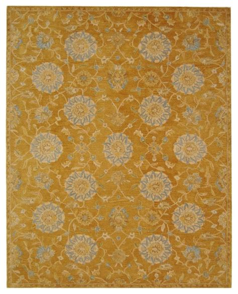 Anatolia Yellow Blue Area Rug An537c 6 X 9 Yellow And Blue Area Rugs