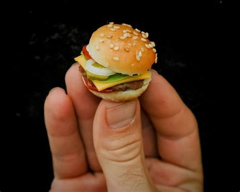 tiny tainy world s smallest burger burger web