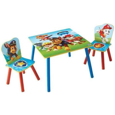 cdiscount table et chaise pat patrouille ensemble table et 2 chaises pour enfants