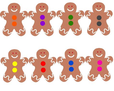 Gingerbread Man Matching Game Printable | toddler approved gingerbread boy color bingo game