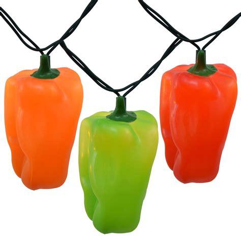 chili pepper light string bell pepper string lights 10 lights