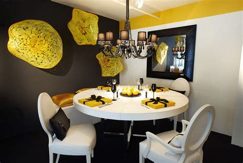 Dining Room Wall Decorations Duo De Couleurs Tendance Le Gris Et Le Jaune Dans La