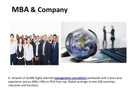Mba Consultancy Project Exle by Freelance Mba Consultants Projects Management