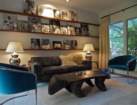 bohemian eclectic midcentury living room dallas