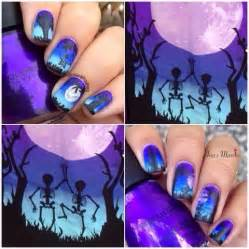 Exceptional Easy At Home Nail Art Designs #4: Scary-Halloween-Nail-Art-Idea.jpg