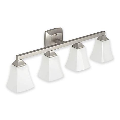 Moen Light Fixtures Moen 174 Voss 4 Light Bath Fixture In Brushed Nickel Bed Bath Beyond