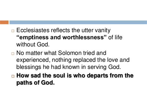 Vanity Ecclesiastes Meaning by Ecclesiastes
