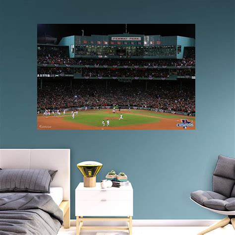 fenway park wall mural boston sox 2013 world series fenway celebration mural wall decal shop fathead 174 for