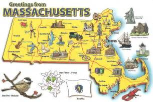 us map where is boston my postcard page usa massachusetts map