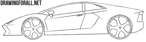 sports car drawing how easy to draw sports cars drawingforall net
