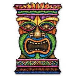3ft jumbo tiki card cutout hawaiian luau themed