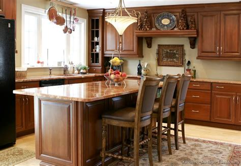 Kitchen Island Ideas With Table Pictures Of Kitchens Traditional Medium Wood Kitchens