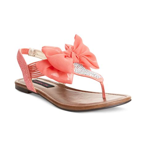 sandals flat shoes material skylar flat sandals in coral lyst