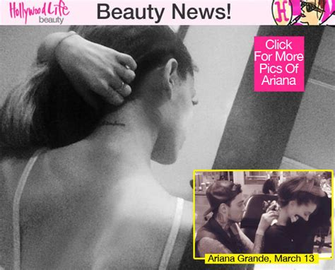 ariana grande new tattoo grande s shows ink on back of neck on