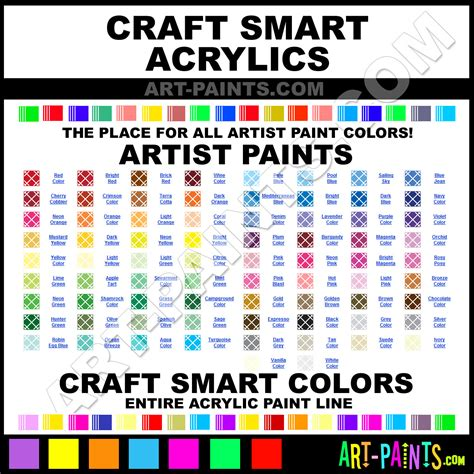 craft smart artist acrylic paint colors craft smart artist paint colors artist color artist