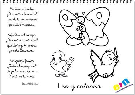 poemas de insectos para ninos lee y colorea poemas sobre la primavera lee en voz alta o