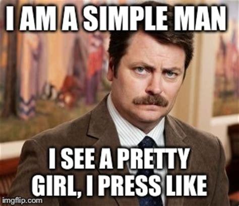 Pretty Girl Meme - ron swanson meme imgflip