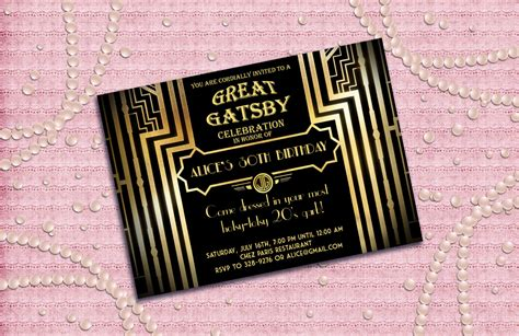 great gatsby invitation diy ideas google search ball