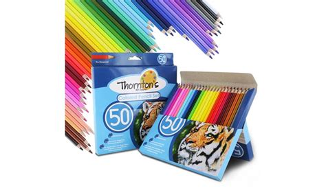 Pencil Set 50 Pieces up to 21 on colored pencil set 50 pc groupon goods