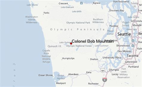 bob locations map colonel bob mountain mountain information