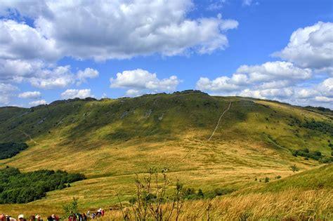 picture hilltop nature landscape blue sky knoll