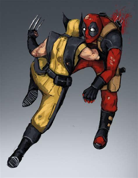 imagenes de wolverine vs deadpool deadpool vs wolverine by fonteart on deviantart