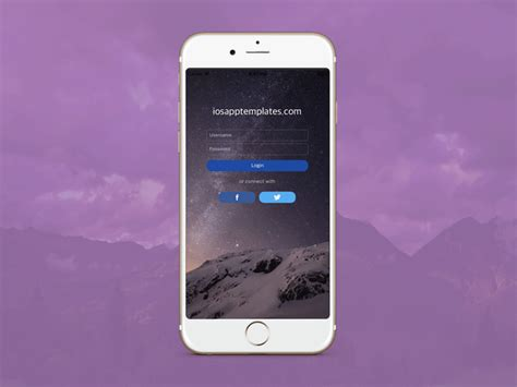 free iphone login screen template in swift 4 ios app