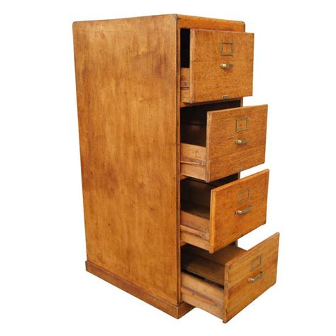 Vintage Pine Wood Four Drawers File Cabinet At 1stdibs Wood File Cabinets 4 Drawer