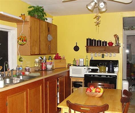 yellow paint kitchen white cabinets hometalk