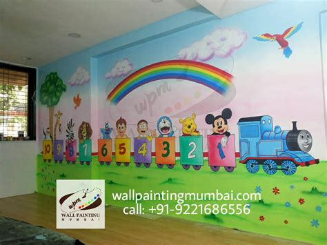 school painting play school wall painting