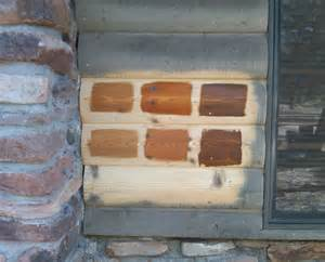 staining options for your log home