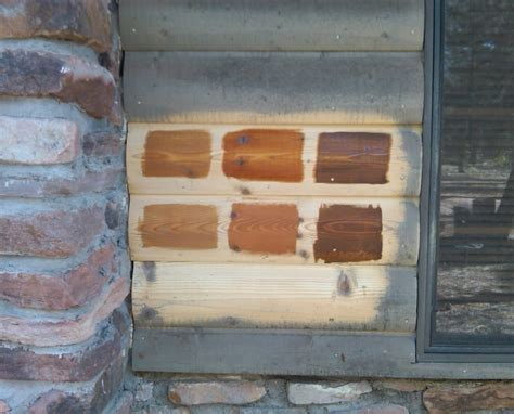 staining options   log home