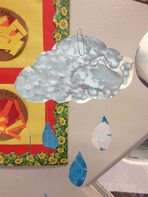 Simba Sponge Brush Sikat Dot cloud cloud is dot sponge brush painted with grey watercolor paint then the raindrops are