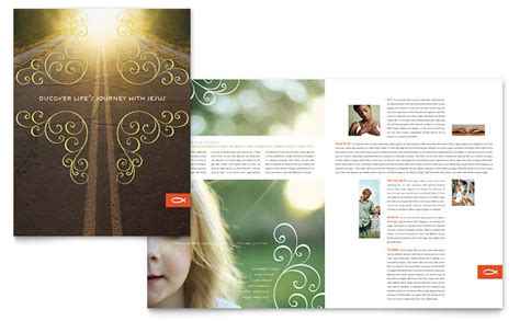 Christian Church Religious Brochure Template Word Publisher Church Brochure Templates